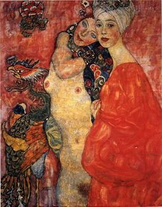 Gustav Klimt, The Girlfriends, 1916