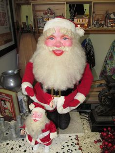 Two Vintage Department Store Santas - Possibly Harold Gale - ...at Tons of Treasures in Laguna Niguel