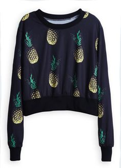 $21.99&One week delivery only and easy return! Pineapple crop sweatshirt is supportive and comfortable to show off your fashion style. Just choose sophisticated & lovely ones at Cupshe.com !