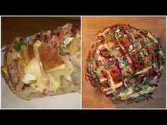 Chléb plněný sýrem, prosciuttem a cibulkou. Jednoduché a rychlé :) Autor: NicolAlexis