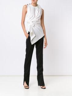 Monse draped detail sleeveless blouse