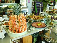 shrimp cocktail display