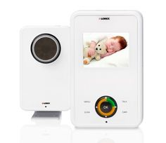 """The Lorex LIVE View delivers safety and style, all in one convenient and attractive package. Simple to set up and easy to use, this is the perfect video baby monitor for any family. The included handheld monitor features a bright 2.4"""" LCD screen, feather touch controls, a rechargeable battery and a stand that doubles as a belt clip. The LIVE View features """"Talk-to-Baby"""" intercom that allows you to speak to your baby, so you can comfort your littl..."""