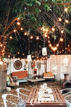 A backyard glittering with string lights and Sonnenglas makes a magical and intimate space for outdoor lounging! Click through to learn more about our handcrafted solar lanterns and get some to illuminate your own outdoor space ✨ (Photo by Kristin Rogers) Backyard Lighting, Outdoor Lighting, Outdoor Decor, Lighting Ideas, Lighting Design, Backyard String Lights, Lounge Lighting, Landscape Lighting, Backyard Patio