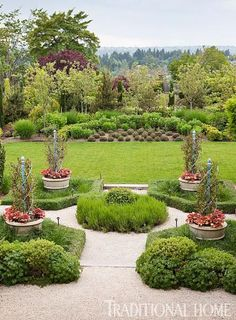French-Inspired Garden in the Pacific Northwest | Traditional Home