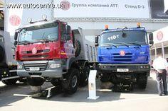 Компания Tatra Trucks a.s. выводит на рынок бывших «союзных» стран полноприводные самосвалы и тягачи, традиционно отличающиеся хребтовой рамой и независимой подвеской колес.