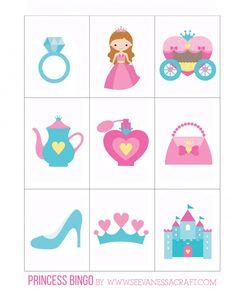 Printable: Princess Bingo with Goldfish® - See Vanessa Craft Princess Party Activities, Princess Birthday Party Games, Princess Crafts, Princess Party Favors, Disney Princess Party, Cinderella Party, Tea Party Birthday, Birthday Party Themes, Birthday Crowns