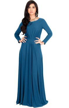 b50638cb91c Maternity Outfits - awesome maternity dresses   KOH KOH Womens Long Full  Sleeve Sleeves Flowy Empire