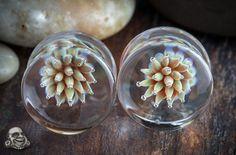 Pyrex glass sea urchin plugs - bodyartforms.com