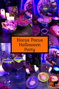 Ever dreamed of flying away to the magical world of the Sanderson Sisters? Grab your broom (or vacuum) and run amuck by hosting a Hocus Pocus party this Halloween! Films D' Halloween, Disney Halloween Parties, Halloween Movie Night, Halloween Dinner, Halloween Food For Party, Halloween Cupcakes, Halloween Birthday, Halloween Party Decor, Spooky Halloween