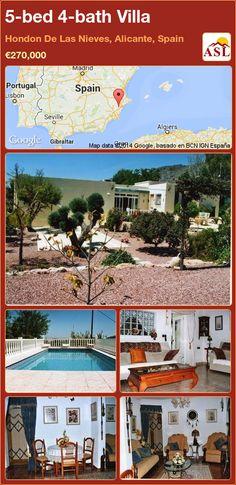 5-bed 4-bath Villa in Hondon De Las Nieves, Alicante, Spain ►€270,000 #PropertyForSaleInSpain