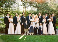 blush and navy wedding   ... Navy Blush Bridal Party - Elizabeth Anne Designs: The Wedding Blog