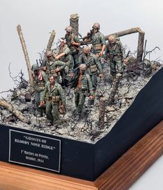 """Ghosts of Bloody Nose Ridge"" 1st Marines on Peleliu October 1944. 1/35 scale. By Brian Wildfong. Pacific Theater #WW2 #diorama http://www.network54.com/Forum/110741/thread/1439755279/%26quot%3BGhosts+of+Bloody+Nose+Ridge%26quot%3B+dio"