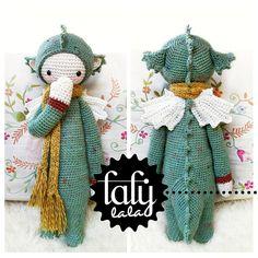 """DIRK"" - lalylala crochet pattern N° VI - Dragon, Dinosaur.                                       Tooo cute!"