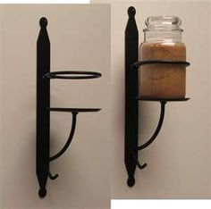 Wrought Iron Candle Holder Wall Sconce
