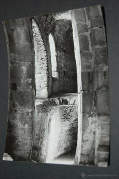 FOTOGRAFÍA DE SANTA ELENA SAN PERE DE RODES GERONA 1960 ANTES DE SER RESTAURADA 9 X 12