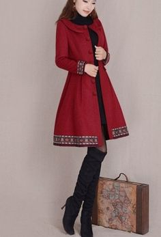 3 colors women's Princess style  dress Coat by prettyforest22, $89.00