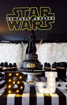 Awesome Star Wars birthday party! See more party ideas at CatchMyParty.com!