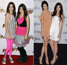 kylie and kendall style   The Jenner Sisters Grow up: Kendall and Kylie's Style Evolution ...