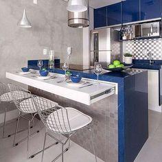 Kitchen Bar Design, Best Kitchen Designs, Home Decor Kitchen, Kitchen Ideas, Modern Home Interior Design, Minimalist Home Interior, Minimalist Design, Galley Kitchens, Cool Kitchens