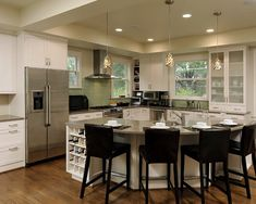 L Shaped Kitchen Island Design, Pictures, Remodel, Decor and Ideas - page 8