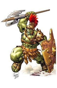 Hulk (by Carlo Pagulayan & Moose Bauman) Marvel Dc, Marvel Comic Universe, Marvel Comics Art, Marvel Heroes, Anime Comics, World War Hulk, Planet Hulk, Hulk Smash, Comic Books Art
