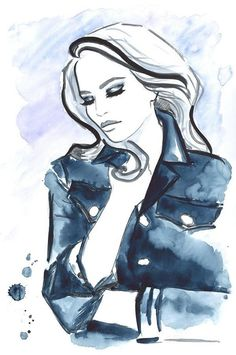 Watercolor Portrait Illustrations by Natalia Turea | Cuded