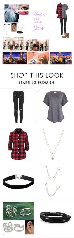 """That's My Jam"" by music-dancer-kpopper5678 ❤ liked on Polyvore featuring Paige Denim, NYX, LC Lauren Conrad, Miss Selfridge, Forever 21, NOVICA and BillyTheTree"