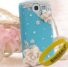 Bingsale 3d Bling Crystal Rhinestone Flower Case Cover Skin for Samsung Galaxy S3 SIII i9300 (Color: Blue, yellow,Black, Red) + Screen Protector Shield BS1 (Blue) by Bingsale, http://www.amazon.com/gp/product/B008V7I7U4/ref=cm_sw_r_pi_alp_3Dilrb0MB106S