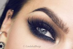 """Todays look. For full face, go to my blog! #eotd #smoky #makeup"""