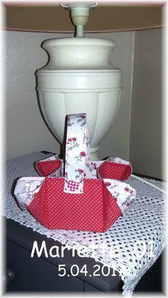 Cestino portapane in Stoffa Imbottito Butterfly Lux Cestino portapane in Tessuto di Cotone Made in Italy
