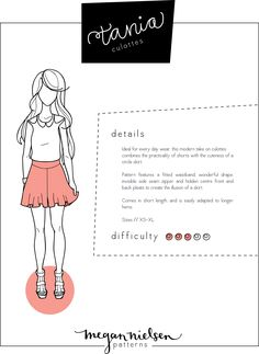 Megan Nielsen Tania culottes sewing pattern // Now available as an instant download PDF!!!