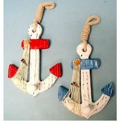 anchors  these would look so cute on the end of curtain tie-backs, subtle.