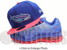 Pensacola Wahoos Dark Royal Blue Light Comet Pink Multi Blue Metallic Silver MiLB New Era Hat