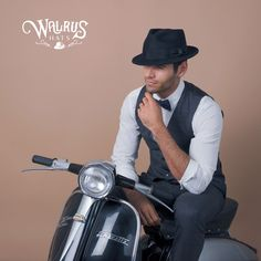 Compass - Walrus Hats Olive Diamond Crown Wool Felt Fedora Hat 5d0578802918