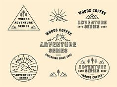 60 Creative Outdoors & Adventure Themed Logo Designs – Welcome Brand Identity Design, Branding Design, Logo Design, Outdoor Logos, Outdoor Brands, Portfolio Book, Portfolio Layout, Wild Logo, Retro Logos