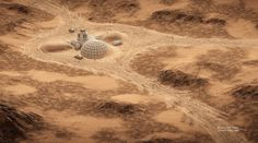 Space oddities: What homes on Mars could look like Colonization Of Mars, Mars Colony, Space City, Red Planet, Life On Mars, Fantasy Landscape, Space Exploration, Solar System, Concept Art