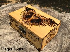 Jon Snow Night's Watch Box  Game of di GigaLabWoodCreations