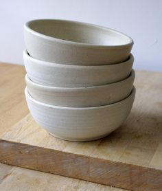 Made to order bespoke set of four custom bowls for your kitchen. Handmade Stoneware Pottery by littlewrenpottery on Folksy. Hand thrown on my potters wheel these stoneware bowls will be decorated in a glaze of your choice picked from the colour chart. Pottery Bowls, Ceramic Bowls, Ceramic Pottery, Stoneware, Large Salad Bowl, Salad Bowls, Kitchenware, Tableware, Mixing Bowls