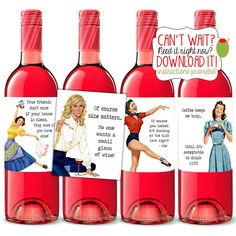 INSTANT DOWNLOAD Hostess Wine Labels  DIY by TheSloshedSisters