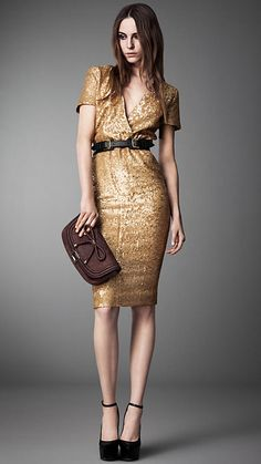 Burberry Sequin Crossover Dress