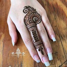 Henna Mehndi Design for beginners Very easy design Henna Hand Designs, Easy Mehndi Designs, Latest Mehndi Designs, Dulhan Mehndi Designs, Mehandi Designs, Bridal Mehndi Designs, Finger Mehendi Designs, Mehndi Designs For Beginners, Mehndi Designs For Fingers