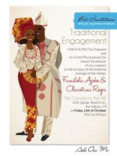Items similar to Yoruba- Idano Traditional Wedding Invitation on Etsy Wedding Invitation Card Design, Traditional Wedding Invitations, Black Wedding Invitations, Wedding Stationery, Nigerian Traditional Wedding, Traditional Weddings, Traditional Decor, Yoruba Wedding, Nigerian Weddings