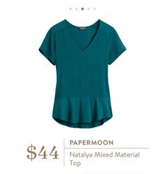 Stitch Fix: Papermoon Natalya Mixed Material Top $44