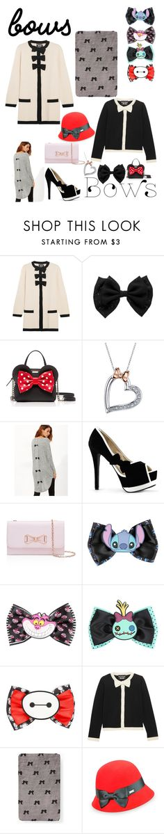 """""""Bows"""" by emi-cornejo ❤ liked on Polyvore featuring Boutique Moschino, Kate Spade, Disney, Ted Baker and Betmar"""