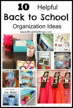 10 Helpful Back to School Organization Ideas - Make the transition back to school easier for the whole family with these ideas. #diy #organization #backtoschool