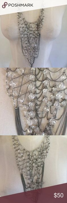 Banana republic statement crystal web necklace Wear long or choker style Banana Republic Jewelry Necklaces