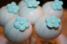 Tiffany Themed Baby Shower Cake Pops