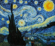 "#1  ""Starry Night,"" Vincent van Gogh"