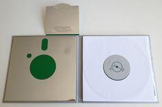 10-inch casebound hard cover gatefold double vinyl edition of Satellites' album entitled 01. For custom vinyl packaging, visit www.unifiedmanufacturing.com
